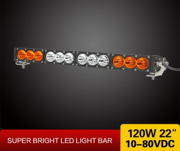 "22"" LED LightBar WEISS/ORANGE"